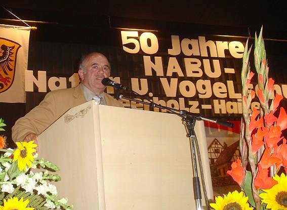 Adolf Beck grüßte für die befreundete NABU-Gruppe Altenmittlau; Foto: NABU/S.Winkel