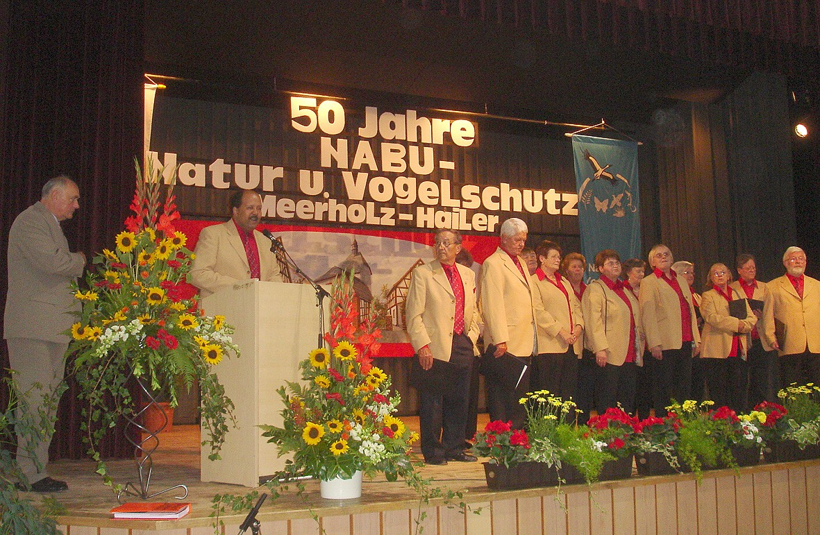 Der Gesangverein Frohsinn Hailer rundete die Feier mit mehreren Beiträgen ab; Foto: NABU/S.Winkel